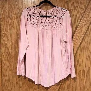 Dressy pink knit tunic